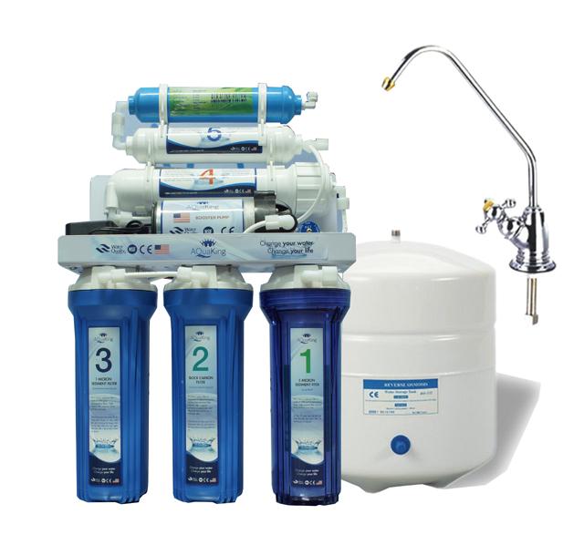 Máy lọc nước RO 6 cấp với lõi kiềm Alkaline