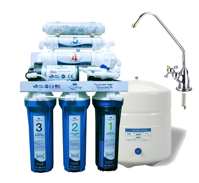 Máy lọc nước RO 6 cấp với cột tạo khoáng 10 lít/giờ
